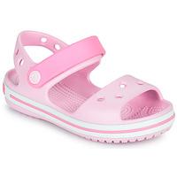 Sapatos Rapariga Sandálias Crocs CROCBAND SANDAL KIDS Rosa