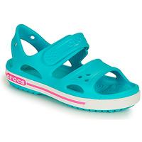 Sapatos Rapariga Sandálias Crocs CROCBAND II SANDAL PS Azul / Rosa