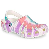 Sapatos Mulher Tamancos Crocs CLASSIC TIE DYE GRAPHIC CLOG Multicolor