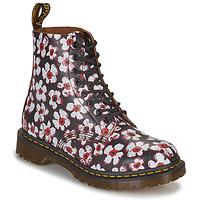 Sapatos Mulher Botas baixas Dr Martens 1460 PASCAL Preto / Branco / Vermelho