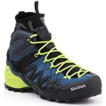 Sapatos Homem Sapatos de caminhada Salewa MS Wildfire Edge Mid Gtx Verde claro,Preto,Azul