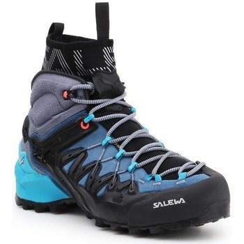 Sapatos Mulher Sapatos de caminhada Salewa WS Wildfire Edge Mid Gtx Grafite,Preto,Azul