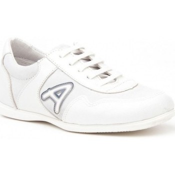 Sapatos Rapariga Multi-desportos Angelitos Deportivo de niño de piel by Pablosky Blanc