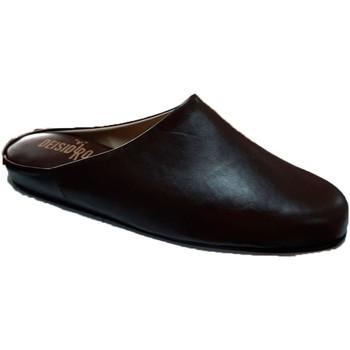 Sapatos Homem Tamancos Deisidro Chinelos de couro masculinos voltados pa marrón