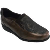 Sapatos Mulher Mocassins Doctor Cutillas Sapato feminino simulando palmilhas remo marrón