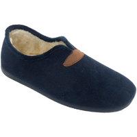 Sapatos Homem Chinelos Calzamur Chinelos masculinos fechados com forro d azul