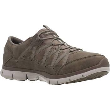 Sapatos Mulher Sapatilhas Skechers FINE TASTE Marron
