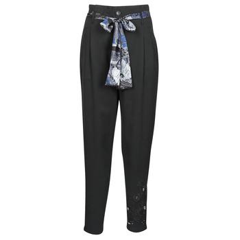 Textil Mulher Calças finas / Sarouels Desigual CHARLOTTE Preto