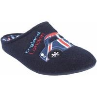 Sapatos Homem Chinelos Garzon Vá para casa cavalheiro  8708.279 azul Bleu