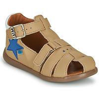 Sapatos Rapaz Sandálias GBB GARDOU Bege