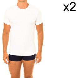 Textil Homem T-Shirt mangas curtas DIM Pack- 2 camisetas ecoDIM Branco