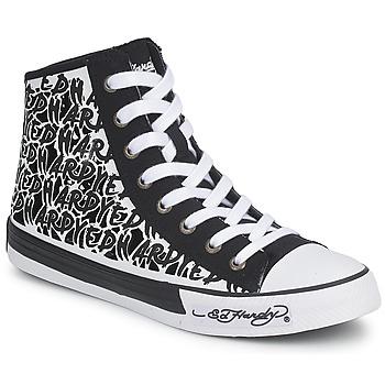 Sapatos Mulher Sapatilhas de cano-alto Ed Hardy RESOUDRE Preto / Branco