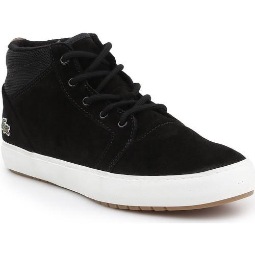 Sapatos Homem Sapatilhas de cano-alto Lacoste Ampthill Chukka 417 7-34CAW0065024 black