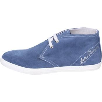 Sapatos Rapariga Botins NeroGiardini Stivaletti Camoscio Blu