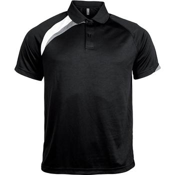 Textil Homem Polos mangas curta Proact Polo manches courtes  Sport noir/blanc/gris clair
