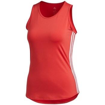 Textil Mulher Tops sem mangas adidas Originals Wmns 3STRIPES Tank Top Vermelho