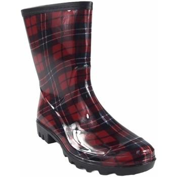Sapatos Mulher Botas de borracha Kelara botas de  senhora k01103 vermelho Multicolore