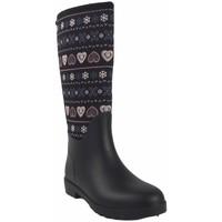 Sapatos Mulher Botas de borracha Kelara femininas  k01108 pretas Multicolore