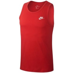 Textil Homem Tops sem mangas Nike Club Tank Vermelho