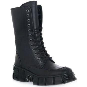 Sapatos Mulher Botins New Rock WALL ITALI NERO TOWER Nero