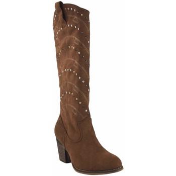 Sapatos Mulher Multi-desportos Olivina Bota de senhora BEBY 19040 em couro Castanho