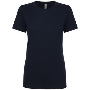 Textil Mulher T-Shirt mangas curtas Next Level NX3900 Meia-noite na Marinha