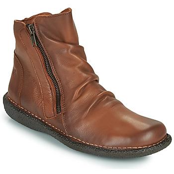 Sapatos Mulher Botas baixas Casual Attitude NELIOO Camel