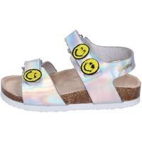 Sapatos Rapariga Sandálias Smiley BK507 Prata