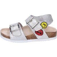 Sapatos Rapariga Sandálias Smiley BK509 Prata
