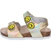 Sapatos Rapariga Sandálias Smiley BK511 Ouro