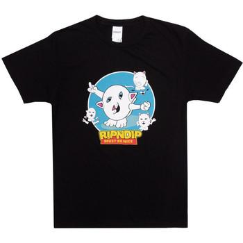 Textil Homem T-shirts e Pólos Ripndip Nerm story tee Preto