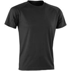 Textil Homem T-Shirt mangas curtas Spiro SR287 Preto