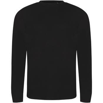 Textil Homem T-shirt mangas compridas Awdis JT002 Preto sólido