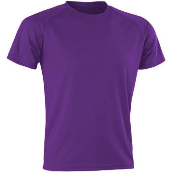 Textil Homem T-Shirt mangas curtas Spiro SR287 Púrpura