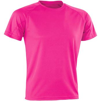 Textil Homem T-Shirt mangas curtas Spiro SR287 Flo Pink