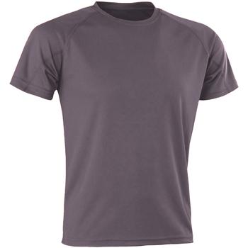 Textil Homem T-Shirt mangas curtas Spiro SR287 Cinza