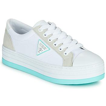 Sapatos Mulher Sapatilhas Guess BRODEY Branco / Azul