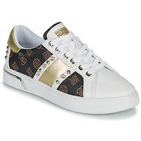 Sapatos Mulher Sapatilhas Guess RICENA Branco / Castanho