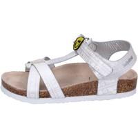 Sapatos Rapariga Sandálias Smiley BK514 Prata