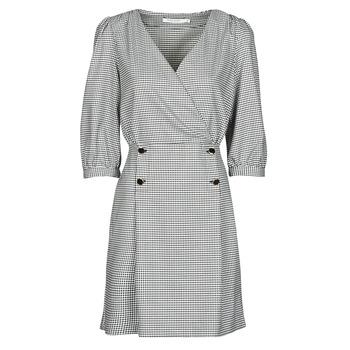 Textil Mulher Vestidos curtos Naf Naf  Preto / Branco