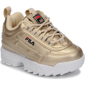 Sapatos Criança Sapatilhas Fila DISRUPTOR F INFANTS GOLD Dourado