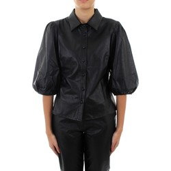 Textil Mulher camisas Bsb 144-216011 Casual Preto
