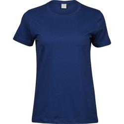 Textil Mulher T-Shirt mangas curtas Tee Jays T8050 Azul Índigo