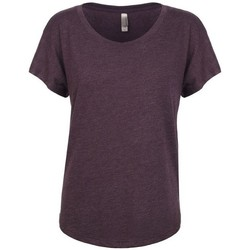 Textil Mulher T-Shirt mangas curtas Next Level NX6760 Vintage Purpura