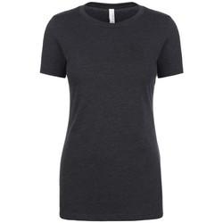 Textil Mulher T-Shirt mangas curtas Next Level NX6610 Carvão vegetal