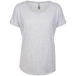 Textil Mulher T-Shirt mangas curtas Next Level NX6760 Heather White