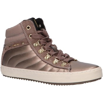 Sapatos Rapariga Sapatilhas de cano-alto Geox J944GH 0AJ22 J KALISPERA Gold