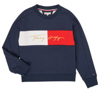 Textil Rapariga Sweats Tommy Hilfiger KG0KG05497-C87-J Marinho
