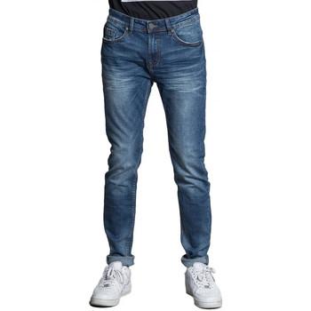 Textil Homem Calças de ganga slim Deeluxe  Azul