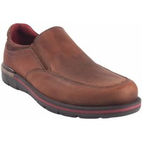 Sapatos Homem Mocassins Riverty Sapato  726 de couro Castanho